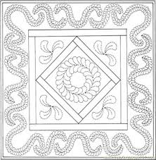 Small Picture Quilt Coloring Pages 3524