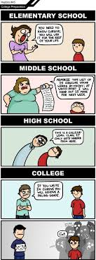 best images about college life teaching my life elementary school vs middle school vs high school vs college