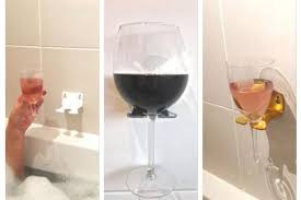 a glasgow girl is ing bathtub wine glass holders and they are proving to be very popular