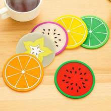 Fruit Coaster Silicone Tableware Mats Pad Colorful Cup Mat Drinks Coddee  Tea Holder Placemat Cool Tools