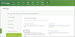 How To Do A Quote For A Job How Do I Set Up My Job Types Verizon Connect Work Help Center