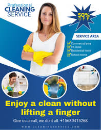 Cleaning Brochure Make Free Home Cleaning Flyers Postermywall