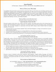 How To Format Education On Resume Lovely Special Education Teacher