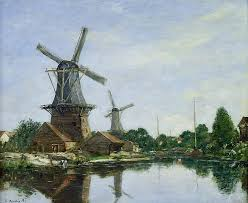 dutch windmill painting dutch windmills by eugene louis boudin