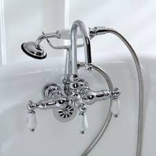faucet for clawfoot tub with shower attachment. americana wall-mount chrome clawfoot tub faucet for with shower attachment