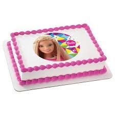 Amazoncom Barbie Sparkle Licensed Edible Cake Topper 36899