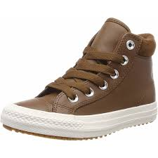converse chuck taylor all star pc boot hi chestnut brown leather youth
