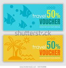 travel voucher template free travel voucher template vector illustration stock vector