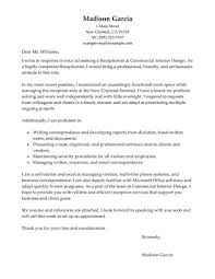 Sample Cover Letter For Receptionist Resume Menu And Resume
