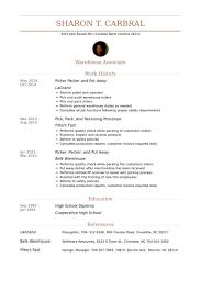 Packer Resume Sample Best of Pick Packing Resume Krida