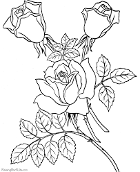 Small Picture Valentine roses coloring sheet 030