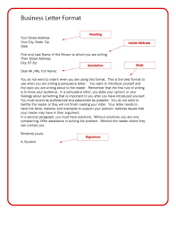 Formal Business Letter Format Template Examples And Forms