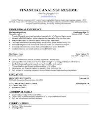 Financial Analyst Resume Financial Analyst Resume Financial