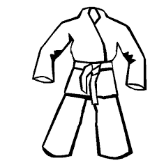 Small Picture Karate Uniform Coloring Pages Batch Coloring