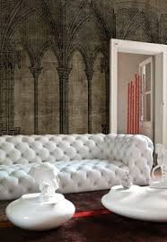 tufted white leather sofa 1