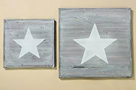 Decorazioni In Legno Da Parete : Ornament cm shabby legno stelle decorazione da parete