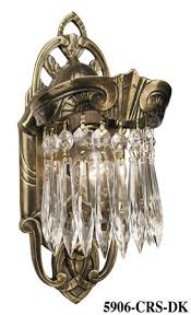 art deco wall sconces lighting crystal prism lincoln utopia series 5906 crs dk