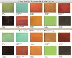 Brickform Acid Stain Color Chart