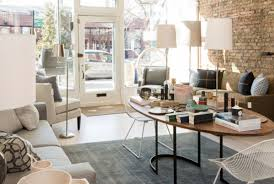 andersonville s norcross and scott home has a wide range committed to bringing fresh designs to chicago the features funky floor lamps and