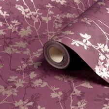 at B&Q | Plum wallpaper, Purple bedroom ...