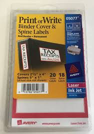 Avery Binder Label Avery Print Or Write Binder Cover And Spine Labels Red Border