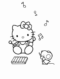 Kleurplaat Hello Kitty Nieuw Hello Kitty Bastelvorlage Az