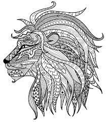 Small Picture Adult Coloring Pages Lion Head Adult Coloring Pages and