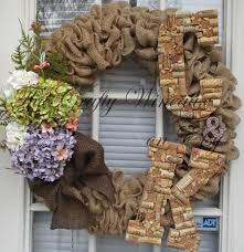 Large Custom Handmade Artistic Wine Cork Letters or & Symbol for Wreath,  Wall, or