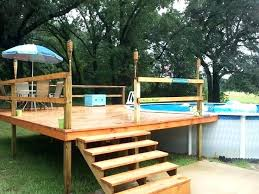 above ground pool and deck pool decking above ground pool deck kits our and deck install