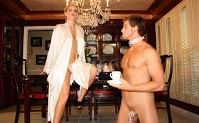 Domestic cuckold slave and femdom wife