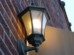 lighting on wall. File:A CFL Light Bulb On A Wall In Black Lantern South Carolina Lighting