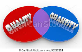 Artist Venn Diagram Quality Vs Quantity Compare Best Options Venn Diagram 3d Illustration