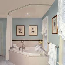 corner tub shower curtain rod. used black iron piping to create a shower curtain rod that surrounds our corner jetted tub. | for the home pinterest rods, tub and o