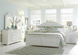 white panel bed. Contemporary White Summer House Panel Bed 6 Piece Bedroom Set In Oyster White Finish By  Liberty Furniture  607PL And S