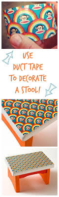 Duct Tape Crafts: How to Decorate a Stool