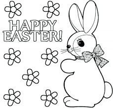Easter Bunny Coloring Page Pages Happy Chick Nmc Penza Org Bunny Easter Coloring Book L