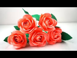 Rose Paper Flower Making Videos Matching How To Make Small Rose Flower With Paper