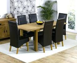 6 chair dining table set and chairs extending with 1 black ext