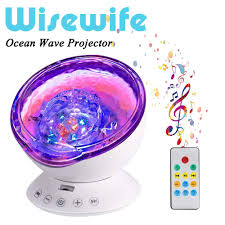 Ocean Wave Projector Night Light Ocean Wave Projector Remote Control Night Light With 7 Color Changing 12 Led Undersea Projector Lamp Built In Music Player For Kids Adults Bedroom