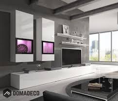 wall unit baros 1 white modern entertainment center