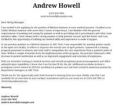Medicalsistant Cover Letter Template Examples Samples Free