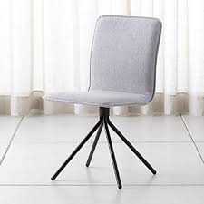 whirl grey swivel dining chair