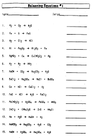 worksheet balancing chemical equations pdf them and try to solve