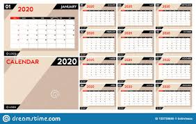 2020 2020 Weekly Planner Calendar Planner 2020 Set Desk Calendar Template Design