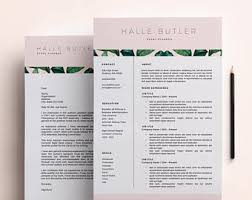 Resume Template, Cover Letter, Modern Resume Design, CV Template,  Professional Resume for