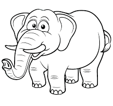 Coloring Pages Elephants Coloring Page Of An Elephant E Is For