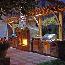 outdoor barbeque with fireplace clark fireplace project by leisure select outdoor rooms family