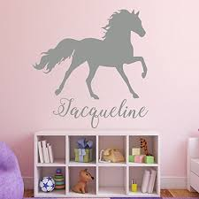 horse wall decor personalized vinyl wall decal