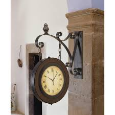 litton lane double sided suspended wall clock