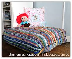 chamomile and peppermint blog something new from something old diy giant rag rug floor